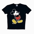 4 x LOGOSHIRT - MICKEY MOUSE SHIRT CLASSIC - BLACK