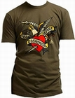 4 x SAILOR JERRY MEN'S T-SHIRT - DEATH BEFORE DISHONOR