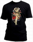 5 x SAILOR JERRY MEN'S T-SHIRT - LADY LUCKY