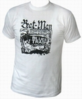 2 x BEAT-MAN - BLUES TRASH - MEN-SHIRT - WEISS