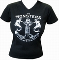 4 x THE MONSTERS - HURT - GIRLIE-SHIRT