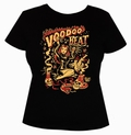4 x VOODOO BEAT - GIRL SHIRT - SCHWARZ