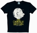 1 x LOGOSHIRT - PEANUTS - CHARLIE BROWN SHIRT & NAME - BLACK