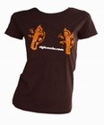 4 x GUNS GIRLIE SHIRT - BRAUN