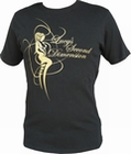 2 x LUCY´S SECOND DIMENSION - BLACK/GOLD - SHIRT