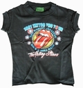 x AMPLIFIED - KINDER SHIRT - ROLLING STONES TATTOO TOUR - BLACK