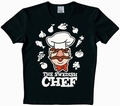 1 x LOGOSHIRT - MUPPETS - SWEDISH CHEF SHIRT - SCHWARZ