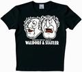 Logoshirt - Muppets - Waldorf & Statler Shirt - Schwarz