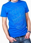 x WE WERE HERE - SHIRT - BLAU