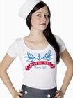 1 x ROCKNROLL PERLE - GIRL SHIRT WEISS