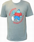 1 x AMOS - POSITIVE DISPOSITION - GREY - MEN SHIRT