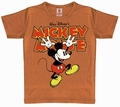 x KIDS SHIRT - MICKEY HANDS UP - VINTAGE KAKAO
