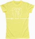 4 x LA LINEA GIRL SHIRT - DRAW ME - GELB