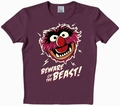 Logoshirt - Muppets - Beware Of The Beast Shirt Violett