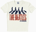 2 x LOGOSHIRT - THE BEATLES - VINTAGE ABBEY ROAD SHIRT CREME