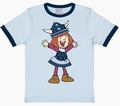 1 x KINDER SHIRT - WICKIE - HELLBLAU