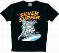 1 x LOGOSHIRT - SILVER SURFER SHIRT - MARVEL - SCHWARZ