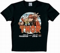 1 x LOGOSHIRT - THOR SHIRT - MARVEL - SCHWARZ