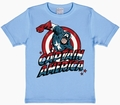 4 x LOGOSHIRT - CAPTAIN AMERICA KIDS SHIRT - MARVEL - BLAU