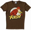 1 x LOGOSHIRT - DER ROTE BLITZ SHIRT - THE FLASH - DC COMICS - BRAUN