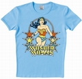 x LOGOSHIRT - WONDER WOMAN SHIRT - DC COMICS - HELLBLAU