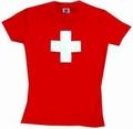 Schweizer Kreuz girlie shirt