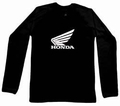 2 x HONDA LONG SLEEVE - SCHWARZ - SHIRT