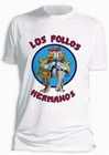 2 x BREAKING BAD T-SHIRT LOS POLLOS HERMANOS WEISS