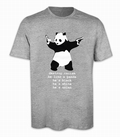 2 x DESTROY RACISM PANDA SHIRT BANKSY MEN