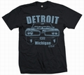 4 x DETROIT BEE - MEN SHIRT SCHWARZ