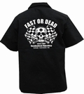 3 x FAST OR DEAD - WORKER SHIRT - SCHWARZ
