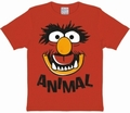 1 x KIDS SHIRT - MUPPETS - FACES ANIMAL - ROT
