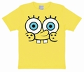 x KIDS SHIRT - SPONGEBOB FACE - GELB