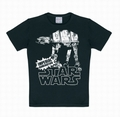 1 x KIDS SHIRT - STAR WARS - AT- AT SCHWARZ