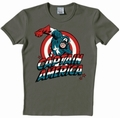 Logoshirt - Captain America Shirt - Marvel - Grau