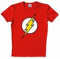 1 x LOGOSHIRT - DER ROTE BLITZ SHIRT - THE FLASH - DC COMICS