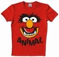 Logoshirt - Muppets - Faces Animal Shirt - Rot