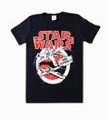 Logoshirt - Star Wars Shirt X-Wings Fighter Blau