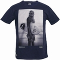 STAR WARS SHIRT - CHUNK - WOOKIE SURFER CHEWBACCA - NAVY