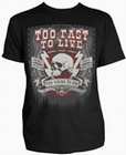 5 x TOO FAST TO LIVE SCHWARZ - STEADY CLOTHING T-SHIRT