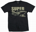 2 x SUPER BEE 383 - MEN SHIRT SCHWARZ