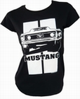 2 x TOXICO - MUSTANG - GIRL SHIRT - SCHWARZ