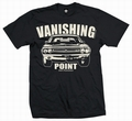 4 x VANISHING POINT 1971 - MEN SHIRT SCHWARZ