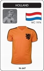 1 x HOLLAND - NIEDERLANDE - NETHERLANDS - WORLD CUP 1974 - TRIKOT