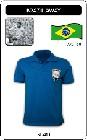 Brasilien Retro Trikot Blau Auswärts