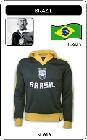 4 x BRASILIEN RETRO JACKE FUSSBALL