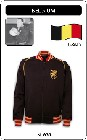 1 x BELGIEN RETRO TRAININGSJACKE SCHWARZ