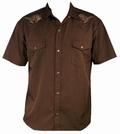 Dancing Dead Western - Steady Clothing Hemd - braun