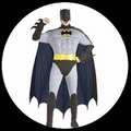 2 x BATMAN RETRO KOSTM DELUXE - 60ER JAHRE - ANIMATED SERIES