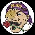 Augenklappe Pirat Bling Bling mit Ohrring